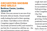 Orchestra Baobab +Baloji